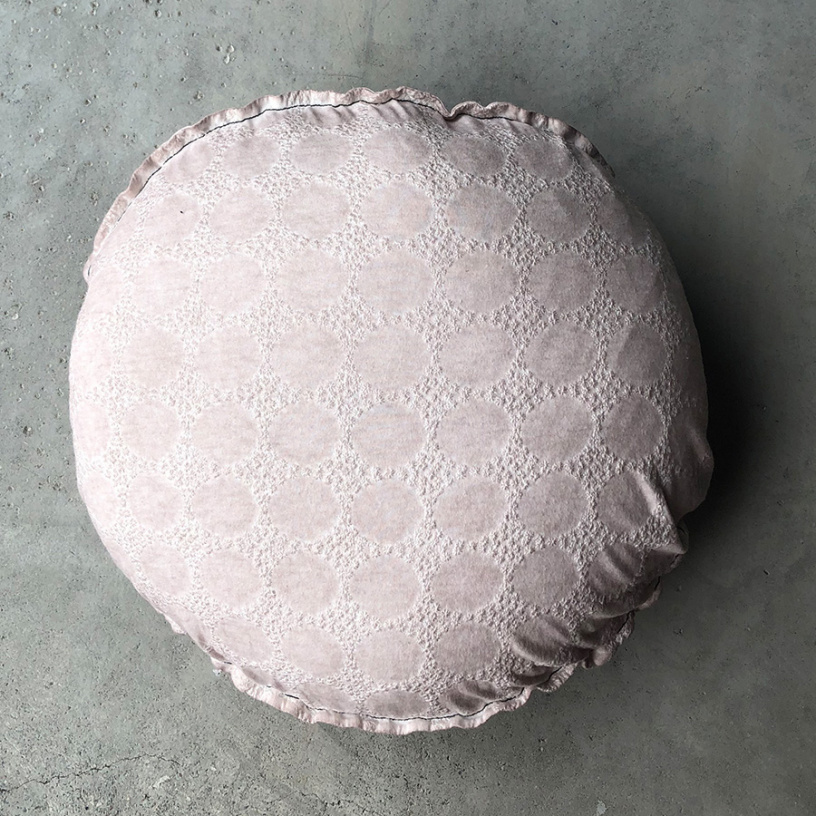 CASTELL Embroireded Dot Cushion