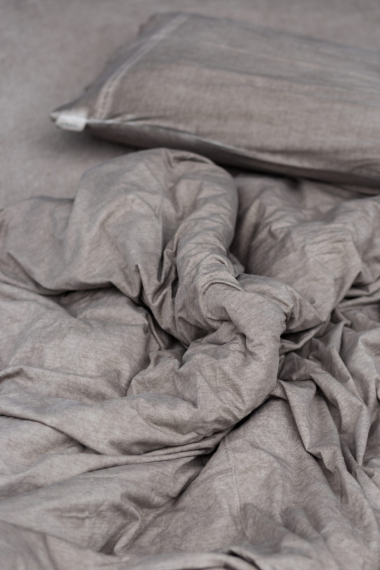 TAUPE - Cotton Bed Linen Set